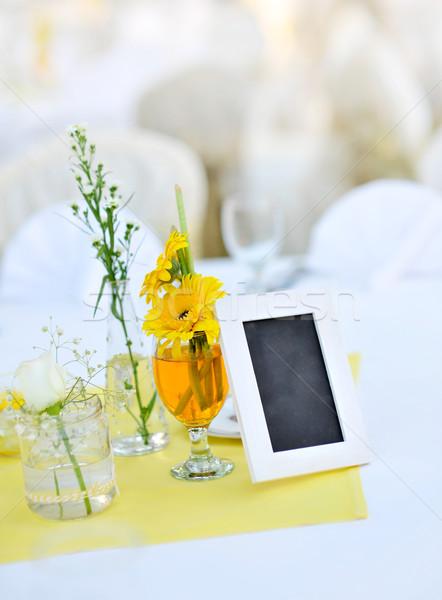 Recepção de casamento tabela decoração flor casamento projeto Foto stock © szefei