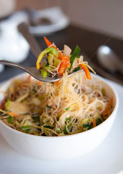 Singapore fried rice noodles Stock photo © szefei
