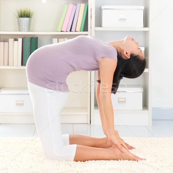 Yoga meditating Stock photo © szefei