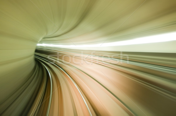 Photo stock: Tunnel · photo · train · longue · exposition · affaires
