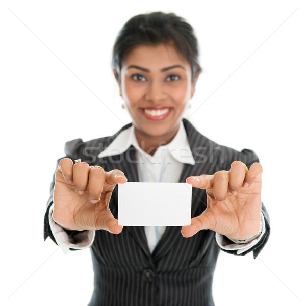 Showing business card Stock photo © szefei