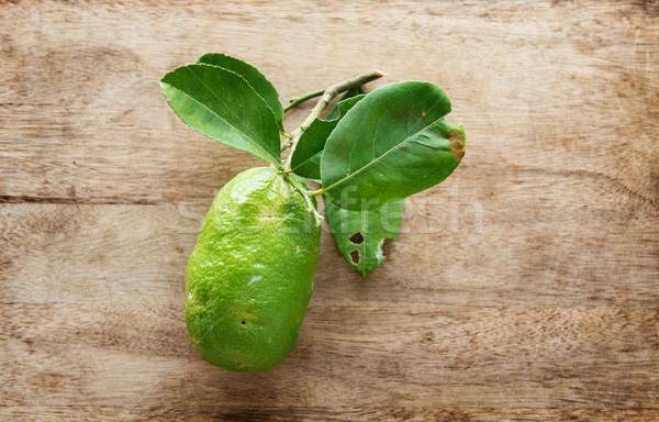 Fresh organic lemon Stock photo © szefei