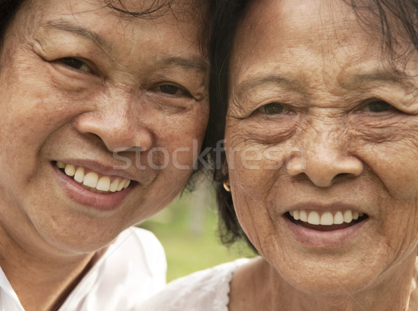 Asian senior woman Stock photo © szefei