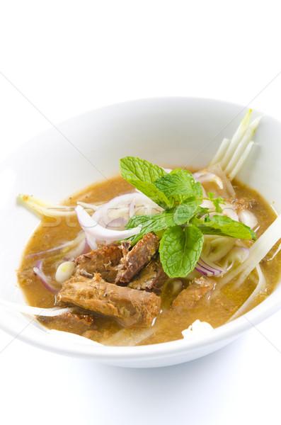辛い スープ 麺 有名な 食品 ストックフォト © szefei