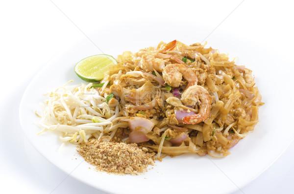 Pad Thai noodles Stock photo © szefei