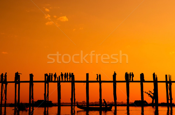 U Bein bridge, Myanmar Stock photo © szefei