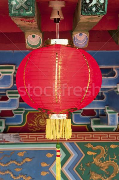 Cinese lanterne display rosso capodanno cinese fortunato Foto d'archivio © szefei