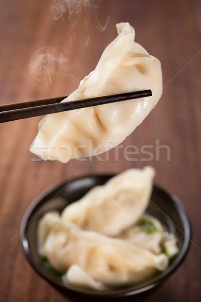 Populair asian soep vers plaat Stockfoto © szefei