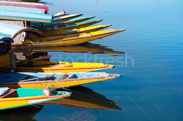 Stock photo: Boats at the Dal Lake Srinagar