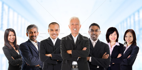 Asian business team in multiracial.  Stock photo © szefei