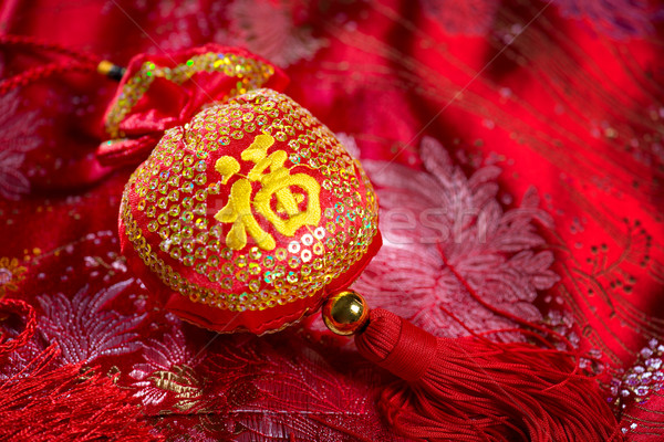 Chinese new year decor Stock photo © szefei