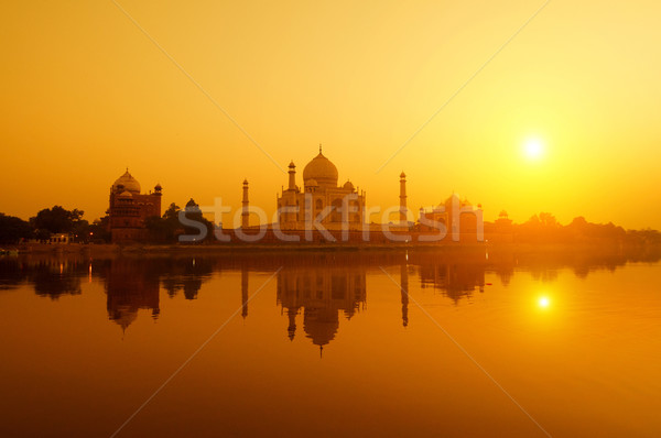 Taj Mahal from yamuna river view Stock photo © szefei