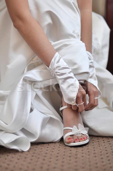 Wedding shoes Stock photo © szefei