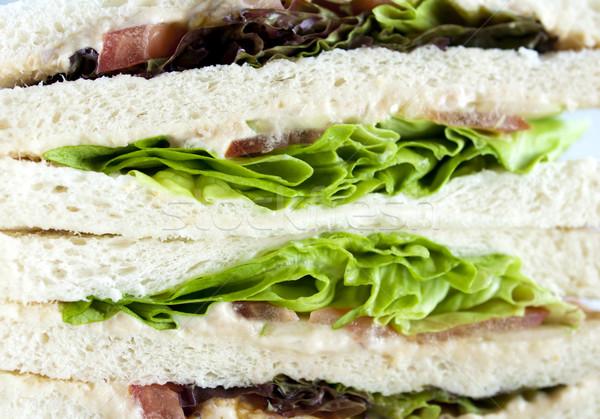 Kanapkę widoku świeże warzywa żywności zdrowia Zdjęcia stock © szefei