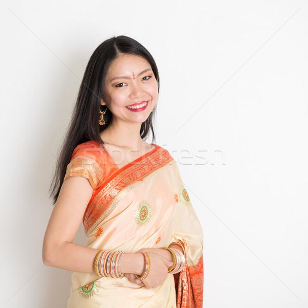 Woman in Indian sari Stock photo © szefei