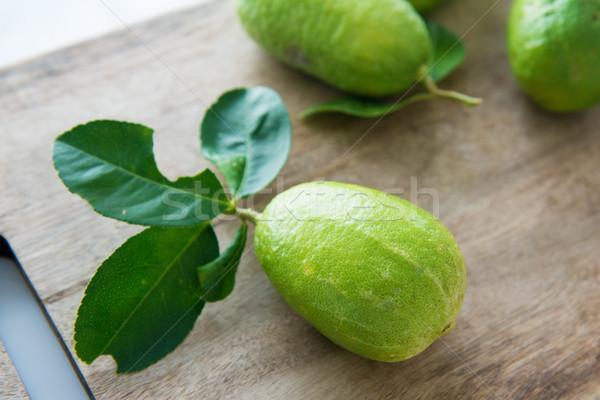 organic green lemons Stock photo © szefei