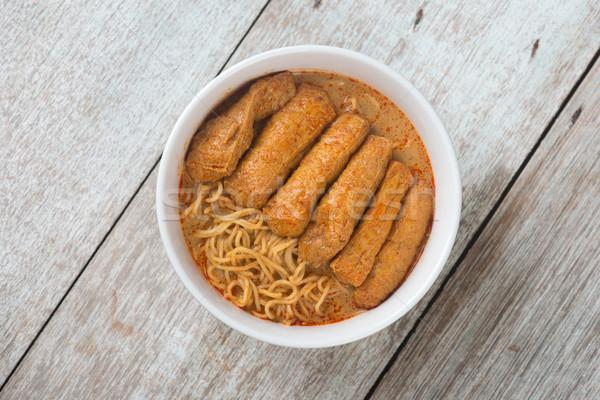 先頭 表示 カレー 麺 ホット 辛い ストックフォト © szefei