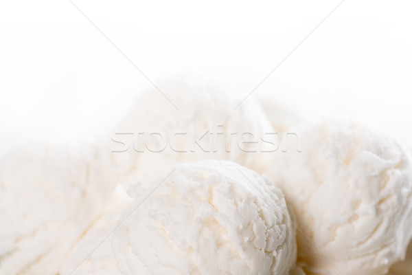Coconut ice cream close up Stock photo © szefei