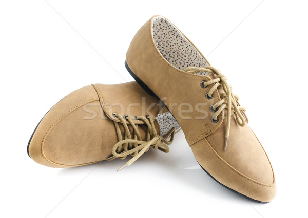 Leather lady shoes Stock photo © szefei