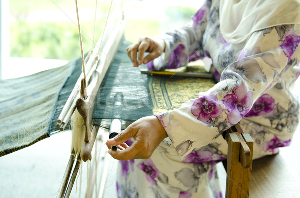 Songket weaver Stock photo © szefei