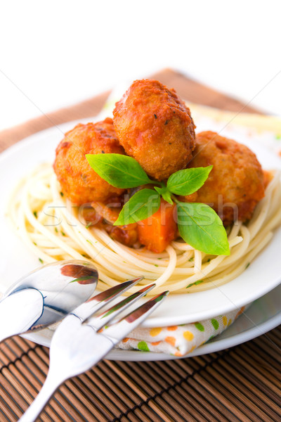 Spaghetti and meat ball Stock photo © szefei