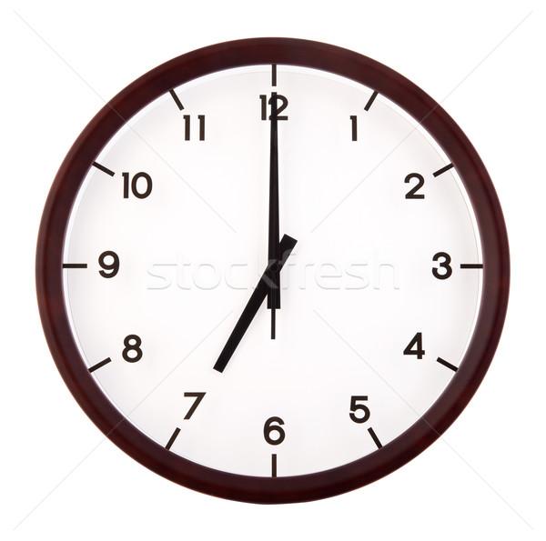 классический аналоговый часы указывая изолированный белый Сток-фото © szefei