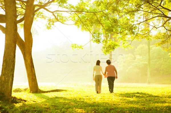 Senior adult healthcare Stock photo © szefei