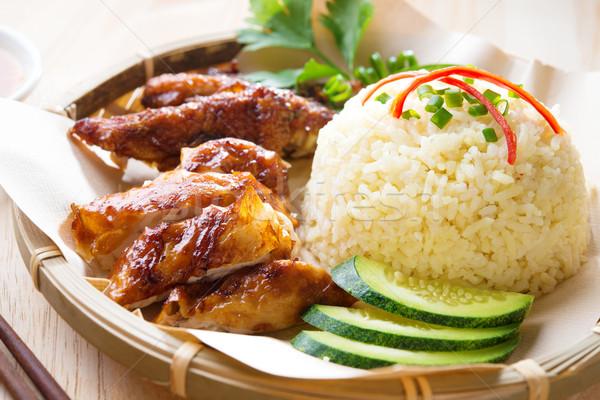 Malaysia grilled chicken rice.  Stock photo © szefei