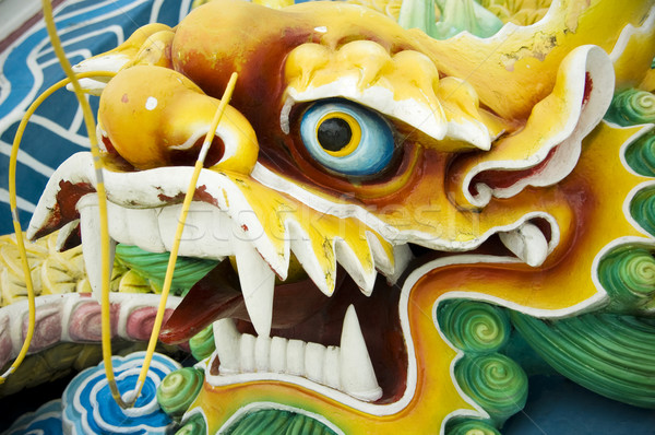 Dragón chino feng shui viaje piedra culto arquitectura Foto stock © szefei