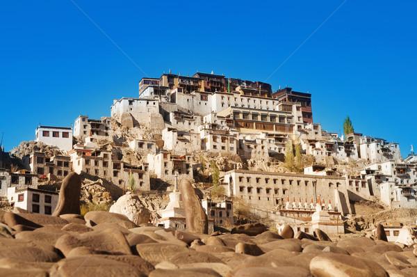 Hindistan manastır budist miras tapınak mavi gökyüzü Stok fotoğraf © szefei