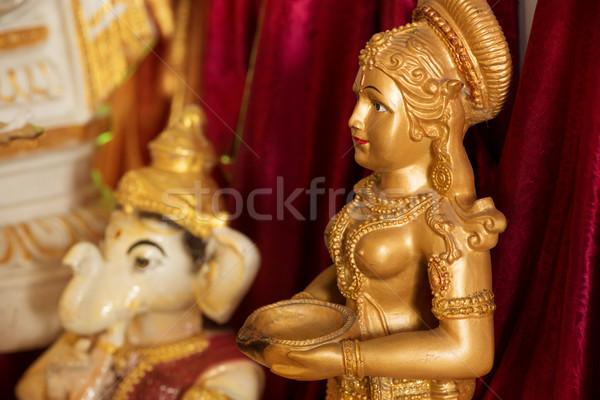 Deus ídolo adorar rezar elefante estátua Foto stock © szefei