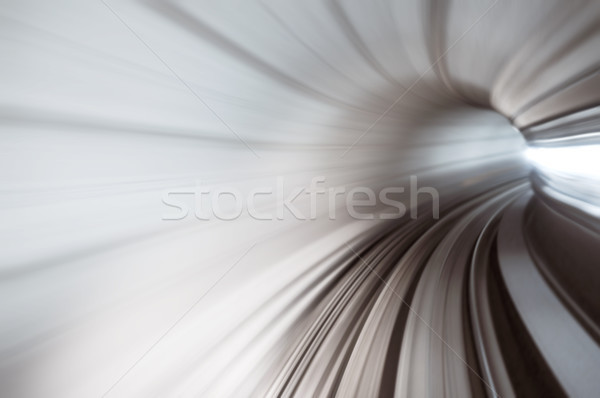 Alagút nagysebességű kilátás absztrakt vonat háttér Stock fotó © szefei