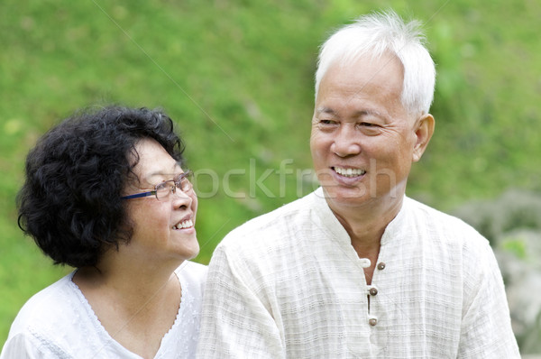 Asian Senior Couple Stock photo © szefei