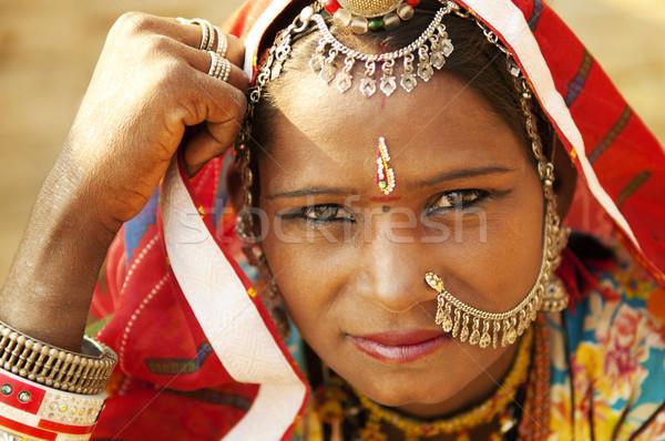 Beautiful Indian woman Stock photo © szefei