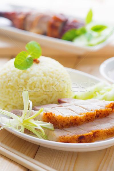 Stock fotó: Pörkölt · disznóhús · kínai · stílus · felszolgált · párolt