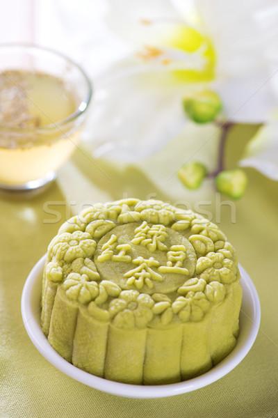 Tè verde pelle tradizionale cinese autunno festival Foto d'archivio © szefei