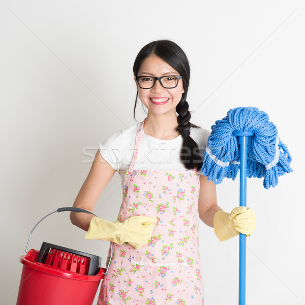 Asian Chinese woman housekeeping Stock photo © szefei