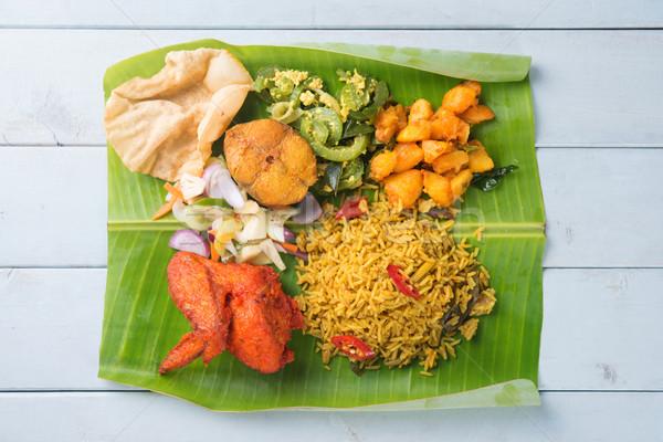 Indian biryani mixed rice Stock photo © szefei