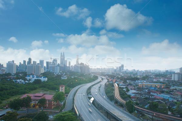 Kuala Lumpur Malezya ufuk çizgisi görmek Bina Stok fotoğraf © szefei
