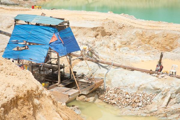 Dredge ship in sand quarry Stock photo © szefei