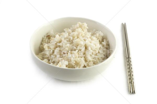 Brun riz bol cuit asian style Photo stock © szefei