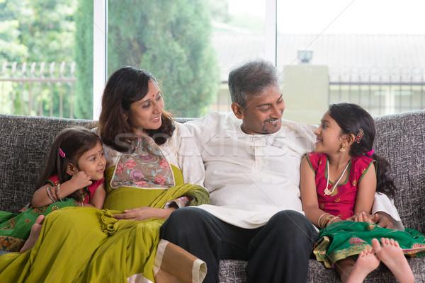 Family talk Stock photo © szefei