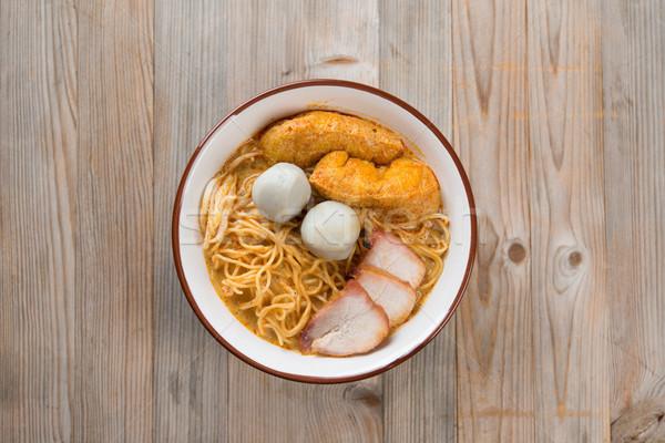 先頭 表示 カレー 麺 人気のある ストックフォト © szefei