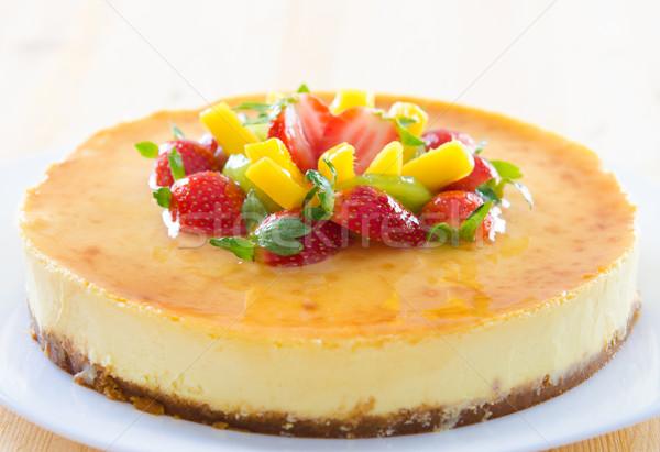 Sernik domowej roboty pasja owoców żywności Zdjęcia stock © szefei