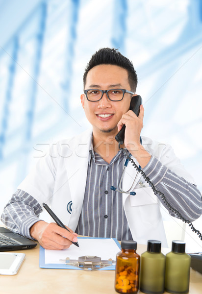 Young Southeast Asian medical doctor  Stock photo © szefei