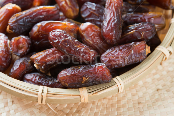 Dates fruits fraîches séché date Photo stock © szefei