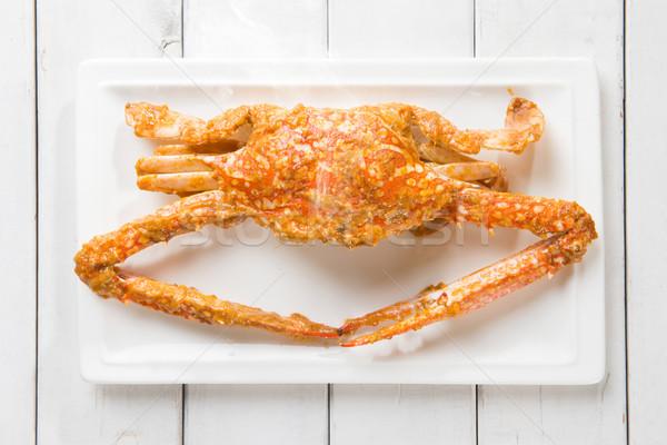 Cuit bleu crabe haut vue Photo stock © szefei