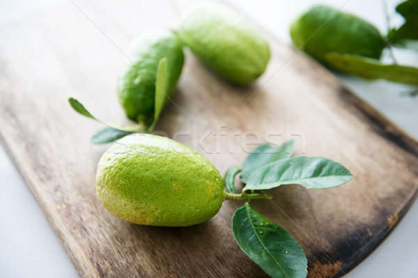 Pesticide free organic lemons Stock photo © szefei