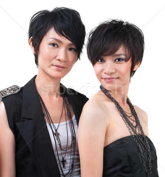 Asian pop star portret twee sterren Stockfoto © szefei