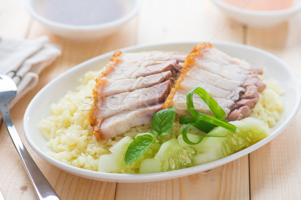 Siu Yuk rice Stock photo © szefei